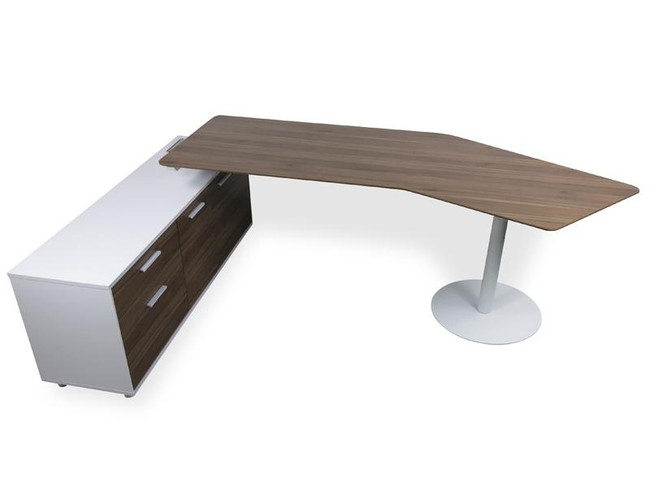 Bargo Executive Office Desk Left Return - Walnut