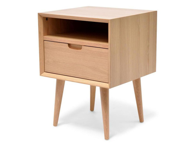 Emilia SQ Wooden Bedside Table