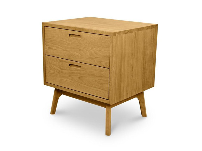 Ayla Wooden Bedside Table - Natural Oak