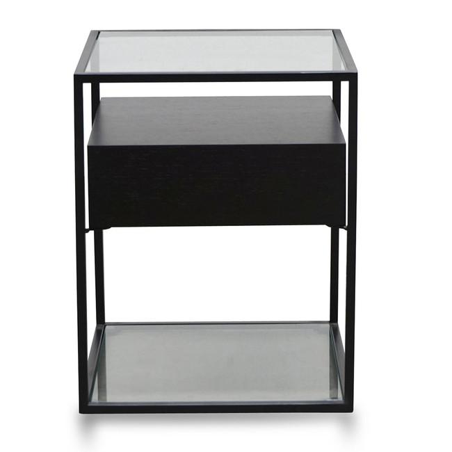 Paige Scandinavian Side Table - Full Black