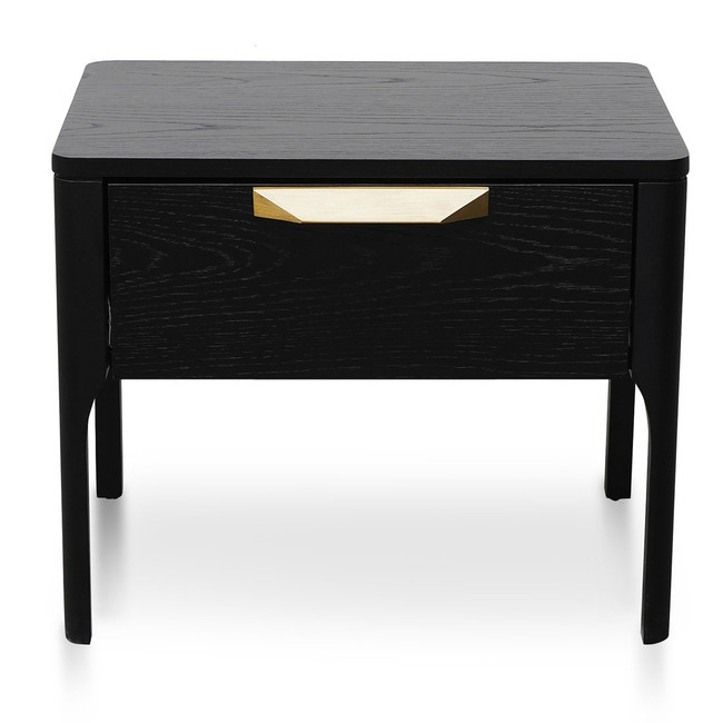 Penance Bedside Table - Black Veneer