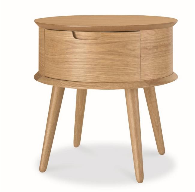 Elga Scandinavian Lamp Side Table - Natural