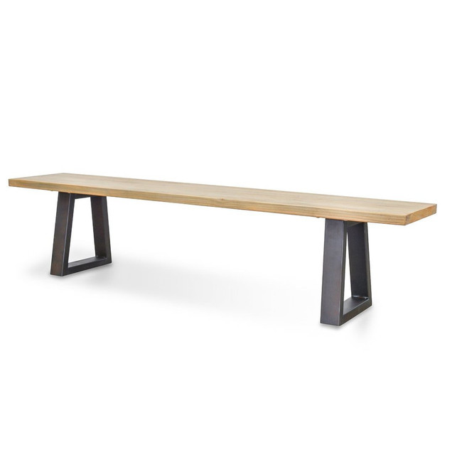 Perth Reclaimed Elm Wood Bench - Natural