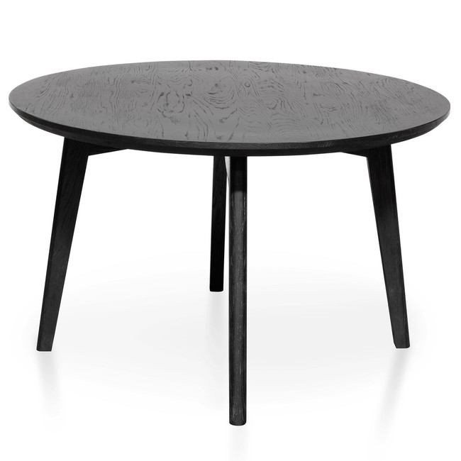 Cobar Round Dining Table - Black