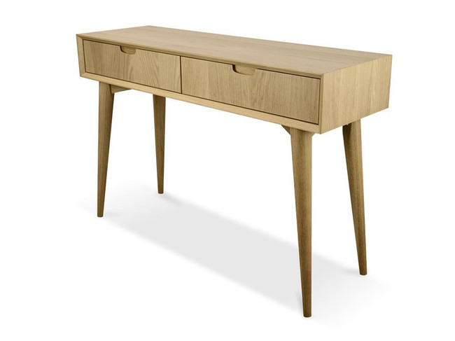 Wilmot Scandinavian Wood Console Table with Drawers