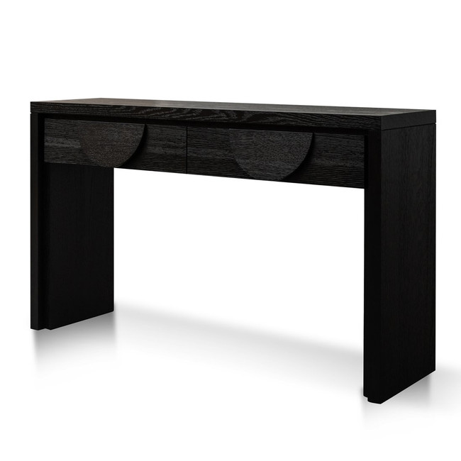 Minyip Console Table - Textured Ebony Black