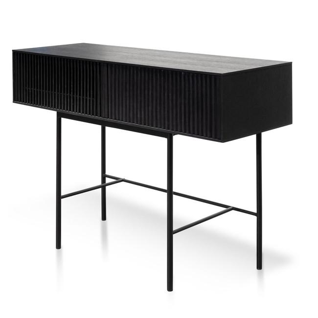 Byng Console Table - Black Oak
