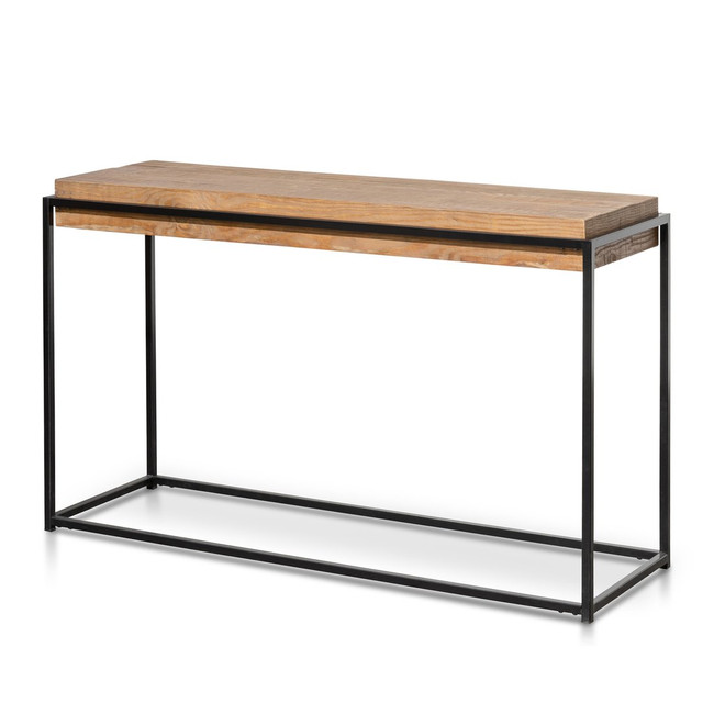 Kyogle Reclaimed Pine Console Table - Black Base