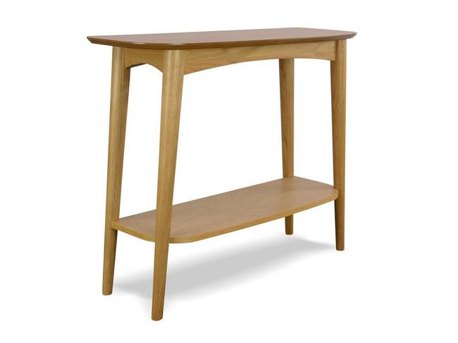 Maleny Narrow Wood Console Table with Shelf