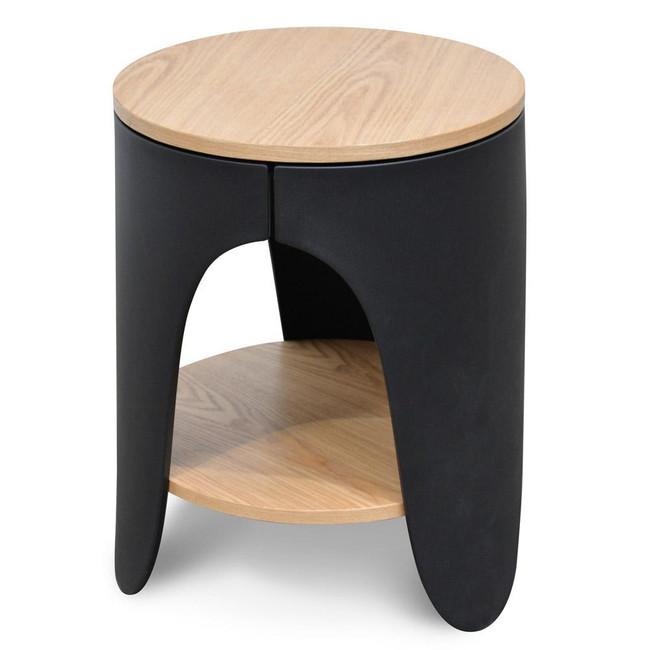 Morpeth Side Table - Natural - Black