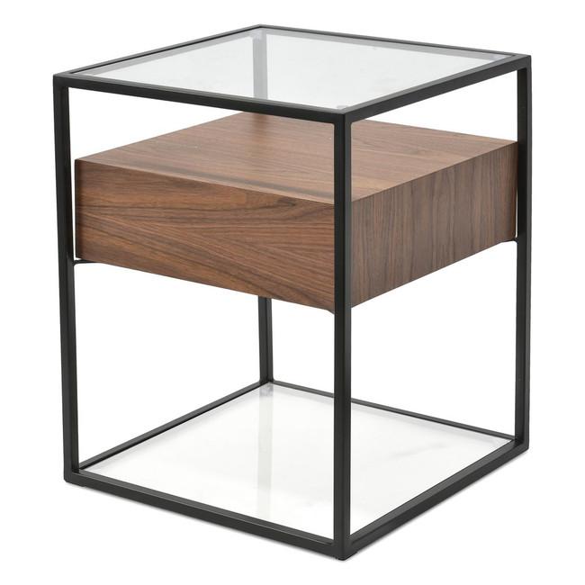 Somers Scandinavian Side Table - Walnut