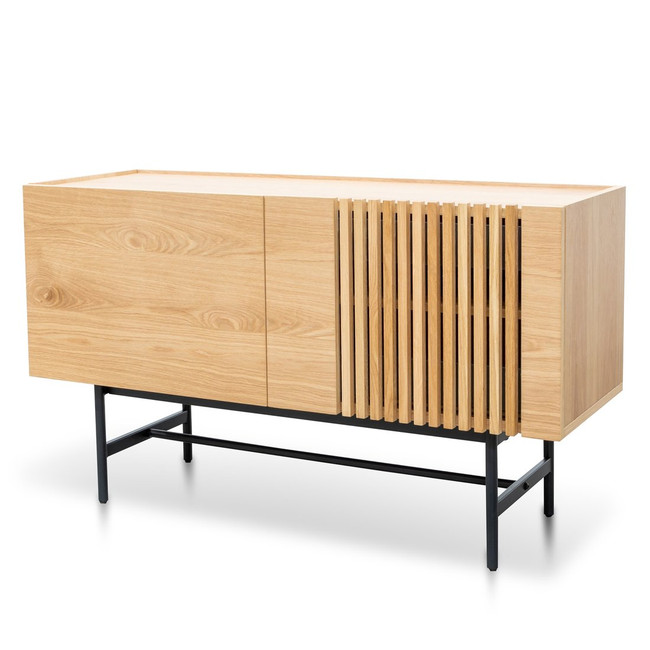 Renmark Buffet Unit - Natural with Black Legs