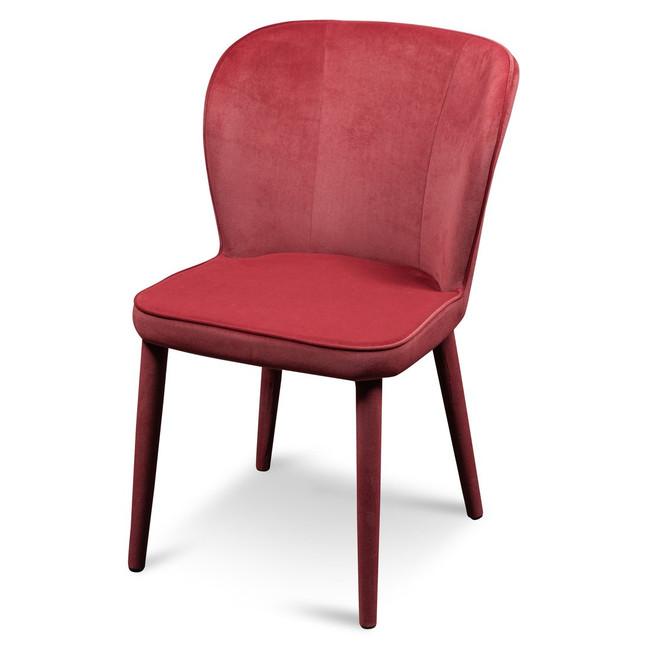 Echunga Bowen Dining Chair - Ruby Red Velvet