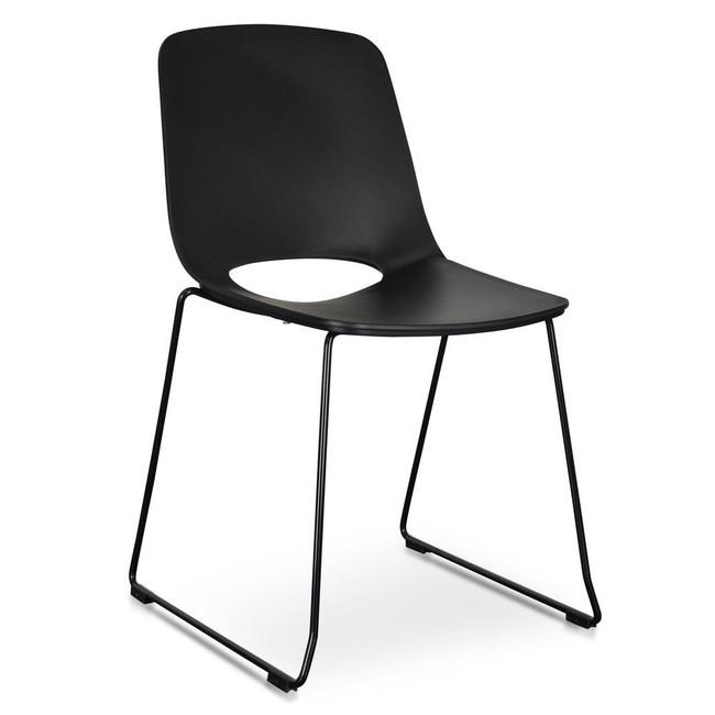 Hastings Cohuna Dining Chair - Black Seat - Black Legs