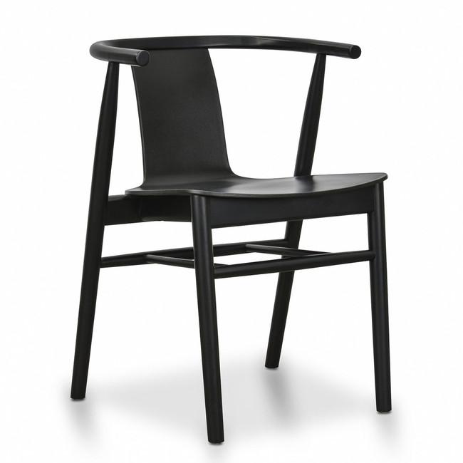 Kellerberrin Eden Dining Chair - Black Shell - Black Seat