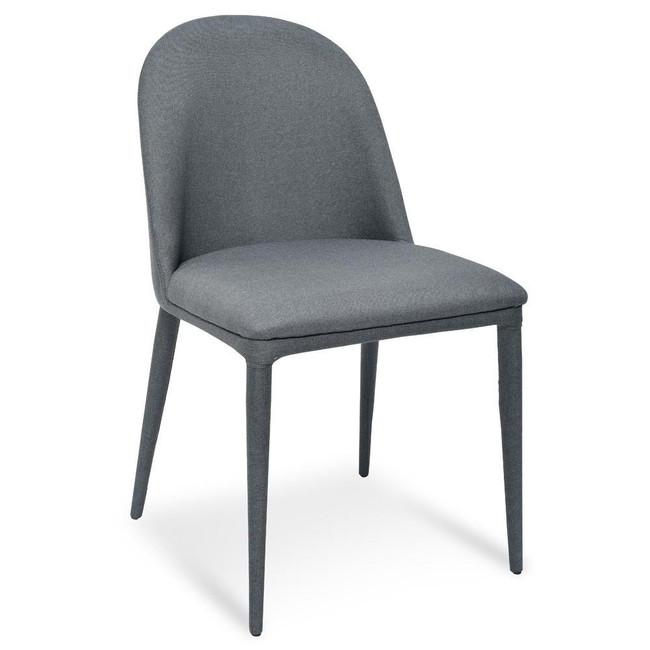 Moulamein Maclean Fabric Dining Chair - Gunmetal Grey