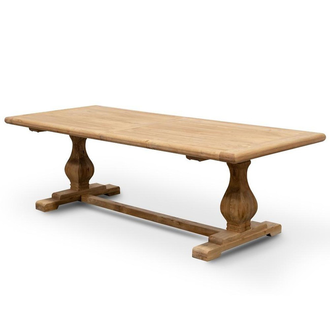 Riverton Elm Wood Dining Table - Rustic Natural