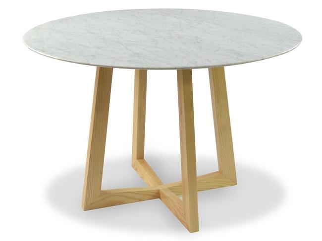 Tumbarumba Marble Round Dining Table - Natural