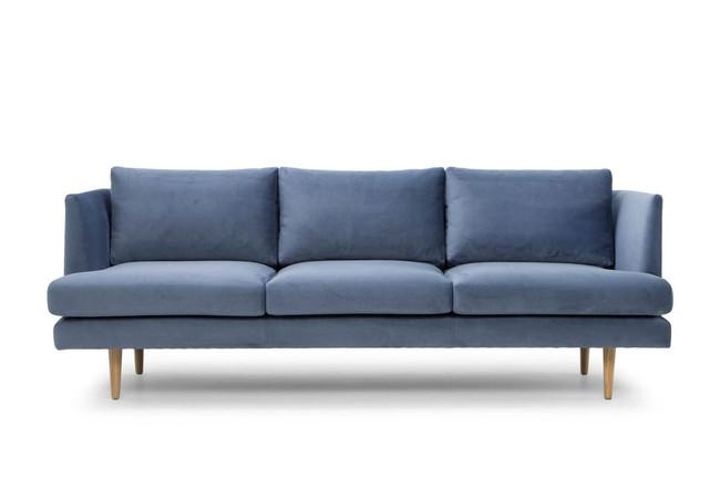 Mooroopna 3 Seater Fabric Sofa - Dust Blue