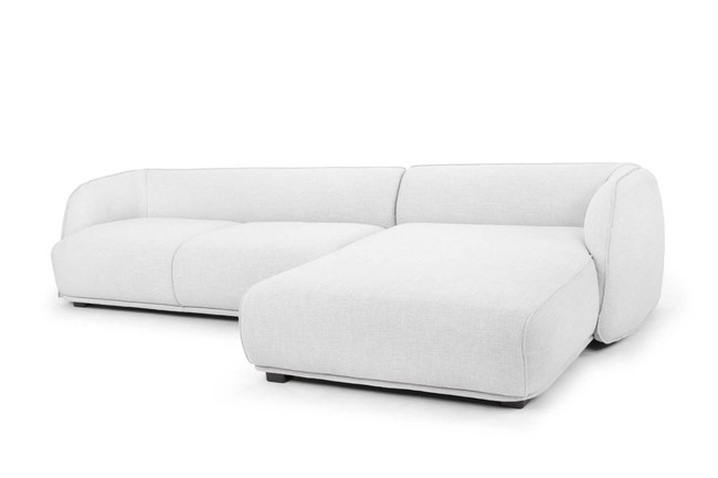 Beaudesert 3 SEATER RIGHT CHAISE SOFA - LIGHT TEXTURE GREY