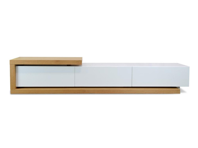 Boorowa Scandinavian TV Entertainment Unit - Natural - White