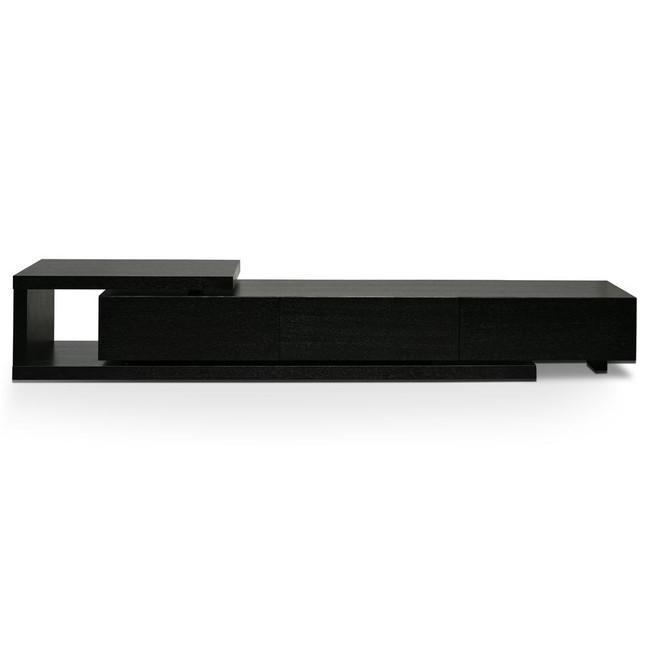 Grandchester Scandinavian Lowline 2.4-3.07m Entertainment TV Unit - Full Black