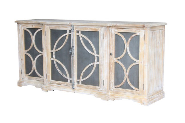 Kylie Zinc Sideboard Natural Reclaimed Timber