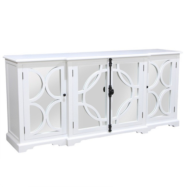 Kylie Sideboard White with Mirror Backing