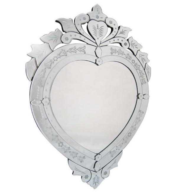 Julius Venetian Heart Shaped Mirror
