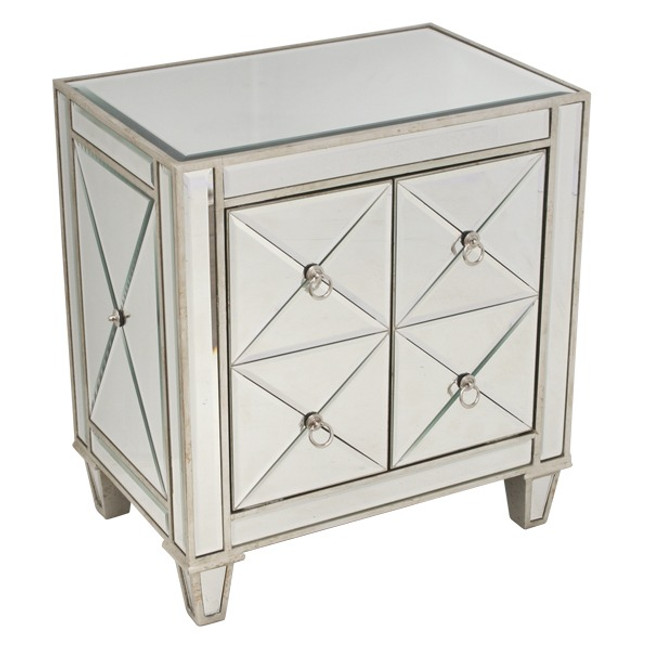 Majesty Mirrored Bedside Table