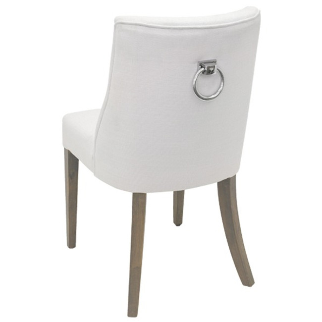 Jane Dining Chair White chrome ring