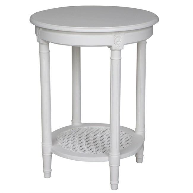 Luke Polo Occasional Round Table White