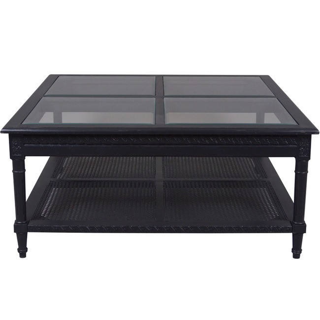Harry Polo Square Coffee Table Black Flat packed