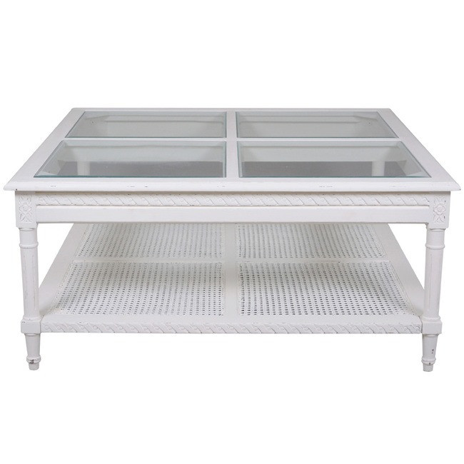Harry Polo Square Coffee Table White Flat Packed