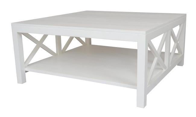 Bella Crossed White Coffee Table