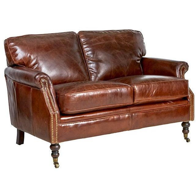 Manchester Aged Leather Sofa