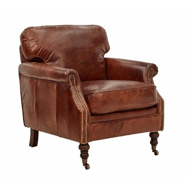 Manchester Original Aged Leather Armchair