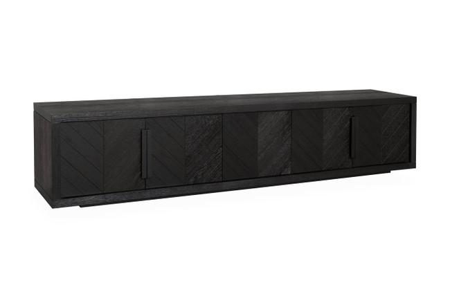 Claremont 2.23m Textured Espresso Black Entertainment TV Unit