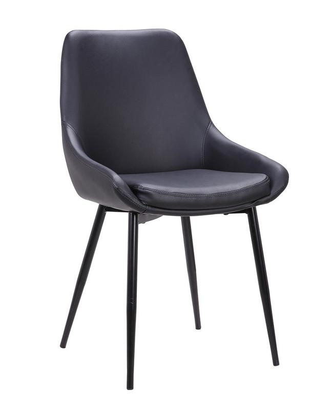 Emma Dining Chair - Black PU (Set of 2)