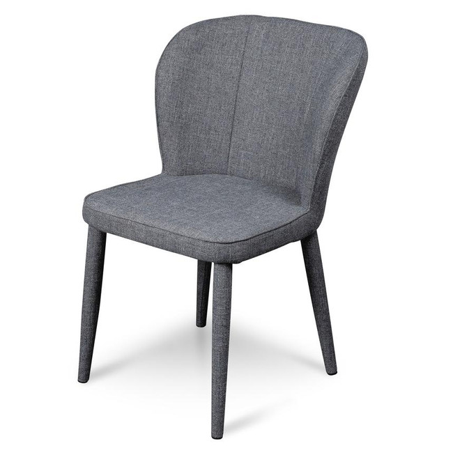 Mystic Dark Grey Fabric Dining Chair