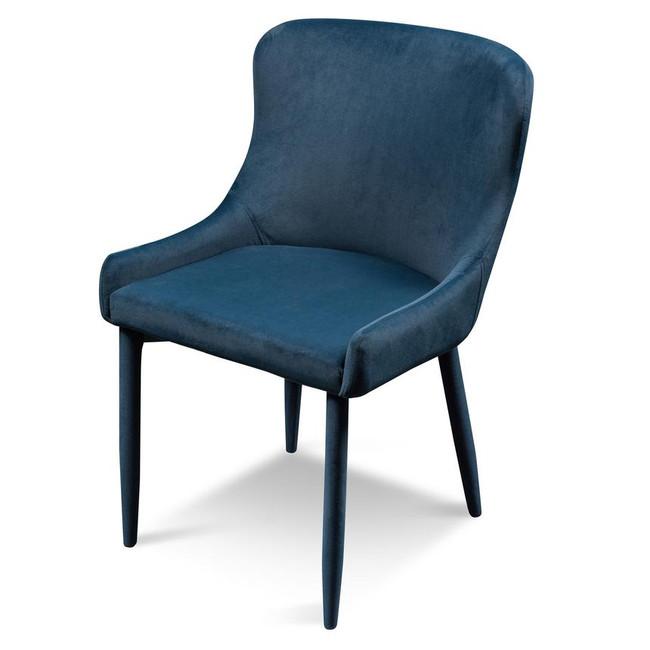 Azul Navy Blue Velvet Dining Chair