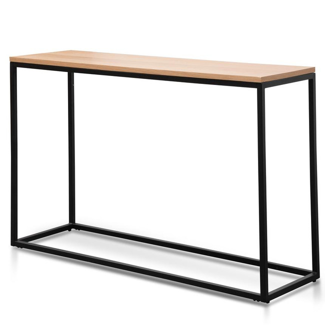Mel Black Natural Console Table