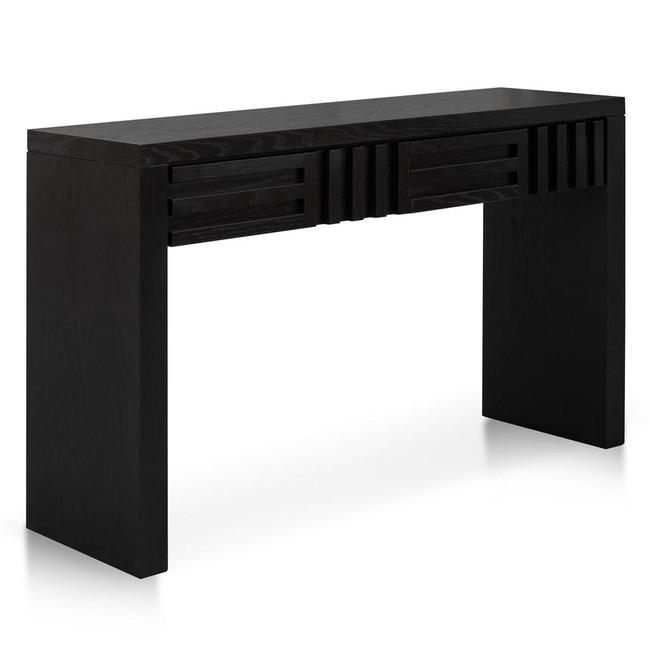 Sam 1.3m Black Oak Console Table