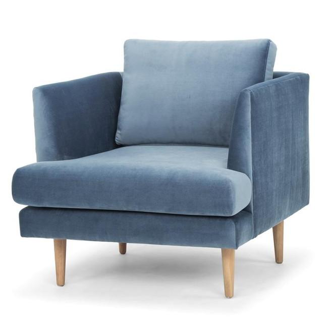 Sky Dust Blue Armchair