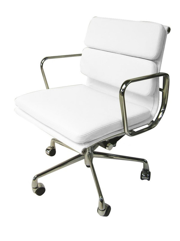 Comfy Soft Pad White Boardroom Chair