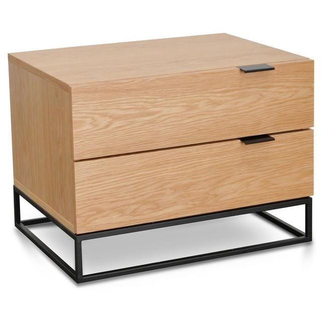 Bec Natural Oak Bedside Table