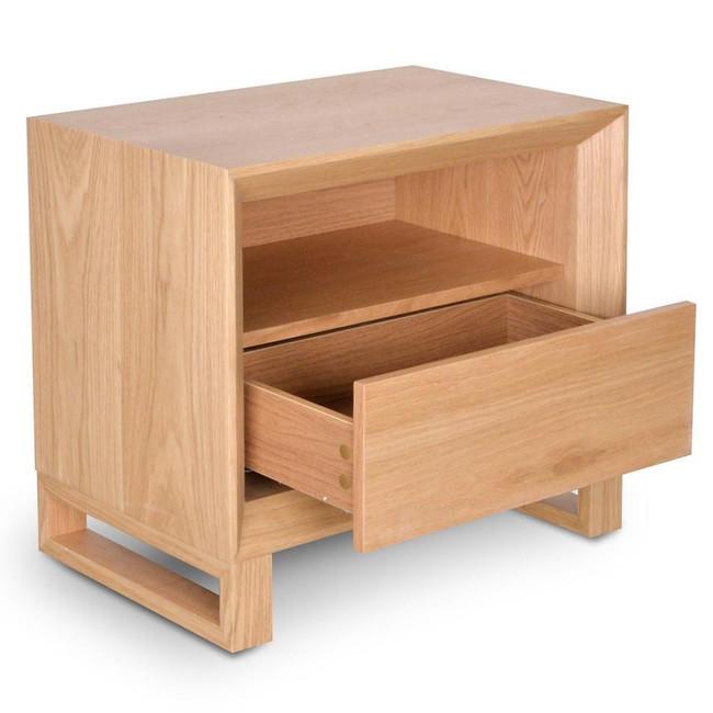 Sara Natural Oak Bedside Table