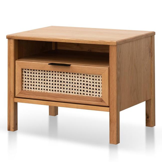 Lust Natural Wooden Bedside Table