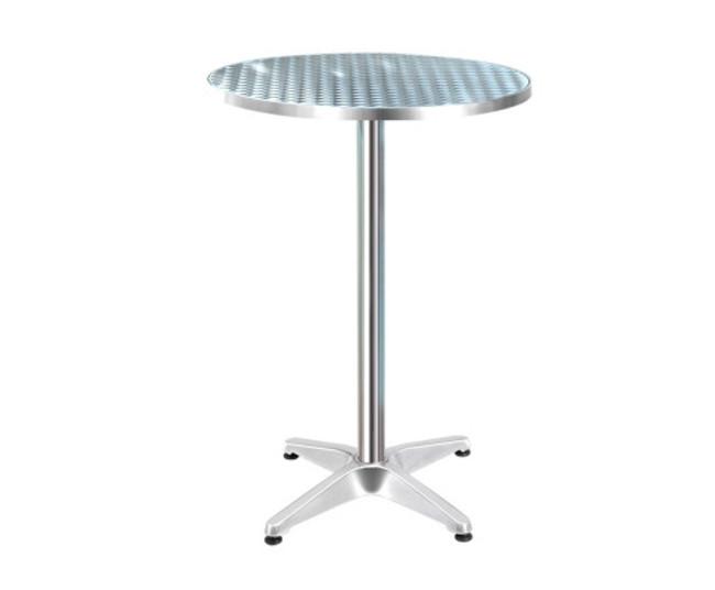 Angus Mobile Aluminium Round Bar Table