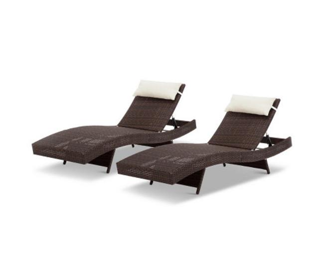 Ashfield Set of 2 Outdoor Sun Lounge